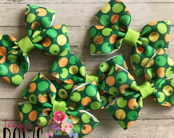 """2"""" St. Patrick's Day Bows"""