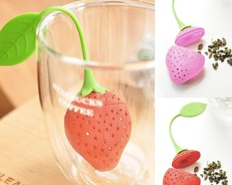 Strawberry Tea Diffuser- loose leaf, herbal, relax