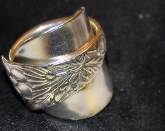 Silverplate Demitasse Spoon Ring - Size 7 1/2