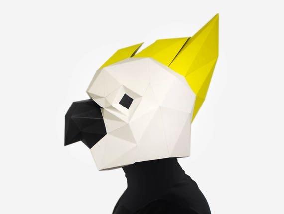 how to make a cockatoo mask
