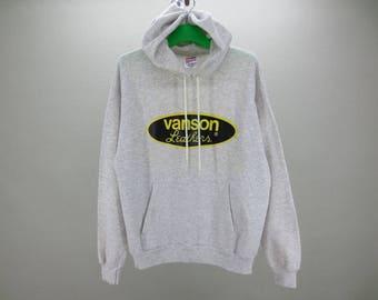 Vanson Sweatshirt Men Size L Vintage Vanson Hoodie 90s Vanson Leather Vintage Sweats Made in USA by Hanes