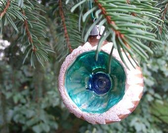 vintage ornament, Poland, christmas ornament, glass ornament, antique ornament, christmas