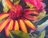 coneflower // flower painting // flower art // coneflower painting // daily painting // small flower painting // coneflower art // fine art