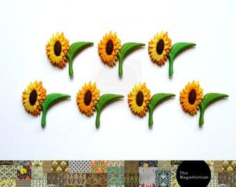 Sunflower Fridge Magnet Set