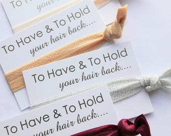 Bachelorette Party Favours, Bridesmaid Gift, Hair Ties, Hen Party Favours, Wedding Favours, Bachelorette Gifts, Hangover Kit, Hen