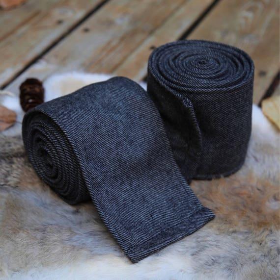 New! Viking Iron Gray Wool Leg Wraps Winingas Vindingr Wickelbander vaf-spjôrr, Garb, Norse, SCA, LARP, HEMA, Anglo Saxon, Armor, Reenactmen