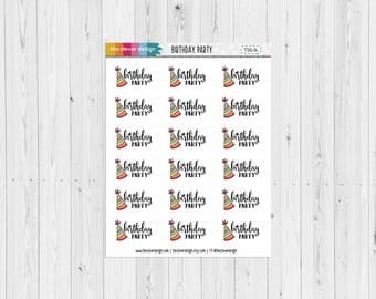 Birthday Party Planner Stickers (17304-03)