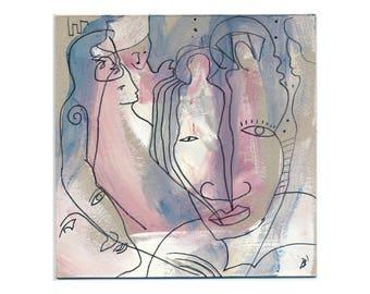 Art abstract 15 x 15 cm (5, 9 x 5, 9 inch)