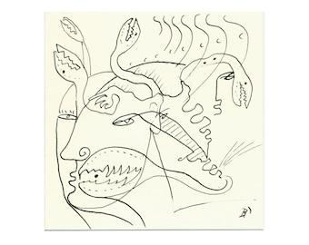 Drawing line art 15/15 cm (5.9/5.9 inch)