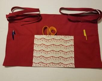 Tiny Hearts in a Row Waitress/Teacher/Vendor/Server/3 Pocket Apron