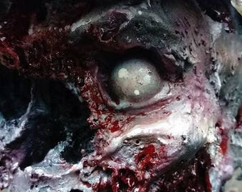 NAZI ZOMBIE bust - officer - 1:1 scale