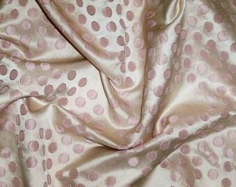 KOPLAVITCH RETRO DOTS Lexie Satin Damask Fabric 10 Yards Blush Pink