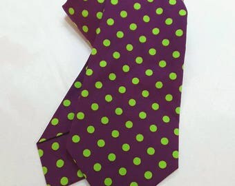 Purple with Lime Green Spots Tie.