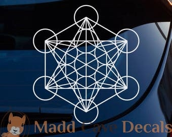 Metatron's Cube Sacred Geometry Decal Window Laptop Tablet Tumbler Rambler Colster