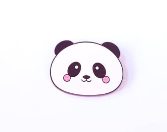 Panda lapel pin kawaii hard enamel | Cute black and white panda bear |  Panda kawaii pin | Cute gift for her | Pin Cloisonne revers