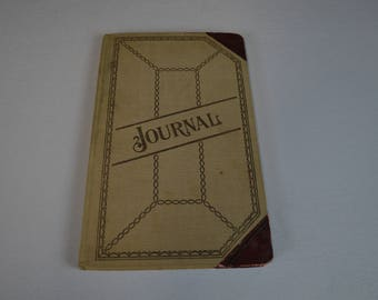 Vintage Journal from 1929 Depression Era, with Disbursement Pages and Tax Letter, #475