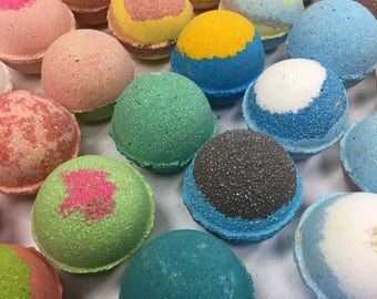 Large Bath Bombs, 4.5 oz each! You Choose Amount, Wholesale Bulk Deals, Hydrating Coconut Oil Bath Bomb for Dry Skin, Essential Oil