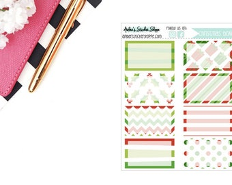 Christmas Quarter Half Boxes Planner Stickers
