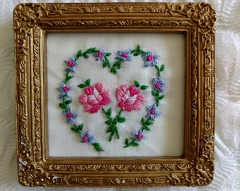 Embroidered Rose Refrigerator Magnet (by Esther)