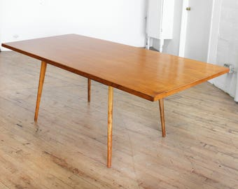 SOLD Mid Century Modern Dining Table- Paul McCobb Style,Early Modernist, Hand Built, Danish Modern, Birch, Amber