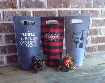 Customized Wine Totes-Bags