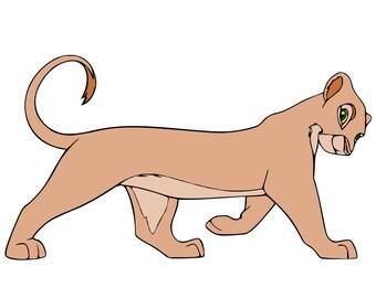 Simba and Nala - Lion King - svg files