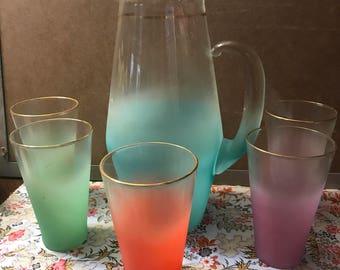 Vintage pitcher set