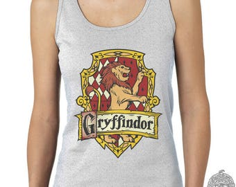 Gryffin Crest #2 print on Female tank (Gildan Softstyle junior 64200L)