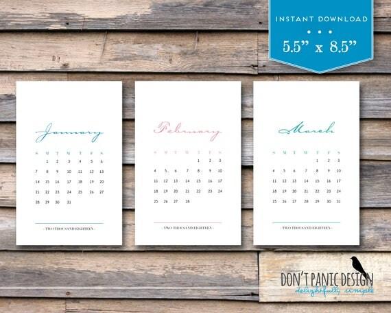 Elegant Desk Calendar Design : Printable monthly calendar elegant color month desk