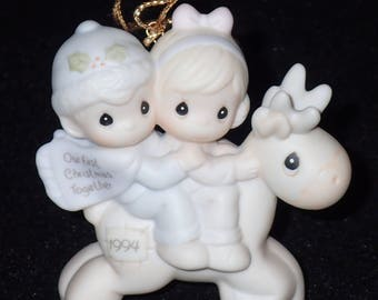 Precious Moments 1994 Our First Christmas Together Ornament #529206