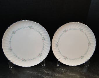 """TWO Syracuse China Sweetheart Dinner Plates 10 1/2"""" Set of 2 EXCELLENT!"""