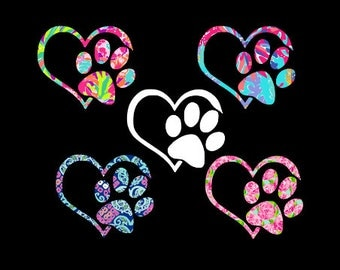Dog Paw - Dog Lover Decal - Paw Print Decal - Pet Decal - Yeti Pet Decal - Yeti Dog Decal - Yeti Cat Decal - Rescue Decal