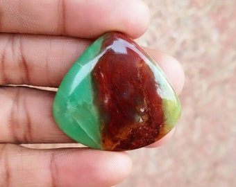 Warm sell 50ct Chrysoprase Natural Gemstone Super Quality AAA+++  Cabochon , Smooth, Pear Shape, 34x36x5mm Size, AM278