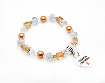 Leukemia Awareness Bracelet -Leukemia Bracelet - Leukemia Awareness - Leukemia Survivor - Leukemia Support Gift - Leukemia - Leukemia Gift