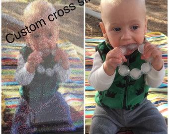 Custom Cross Stitch Portrait