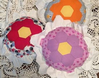 Vintage Flower Garden Pillow/Posing Pillow/Photography Prop Pillow