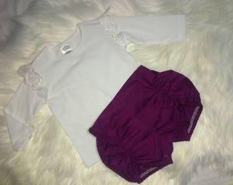 Burgundy pucker shorts