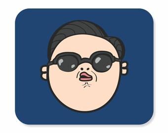 PSY mousepad |  Gangnam Style Mousepad | Office Mouse Pad | Round Mouse Pad | Mouse Pad | Funny Mousepad | Popular Mousepad | Korean K-POP