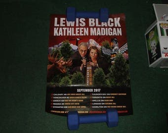 lewis black & kathleen madigan 2017 TOUR SIGNED AUTOGRAPHED poster stand up comedy