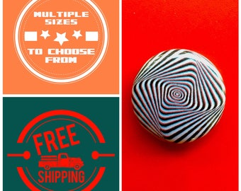 Spiraling Rectangle Optical Illusion Button Pin or Magnet, FREE SHIPPING & Coupon Codes