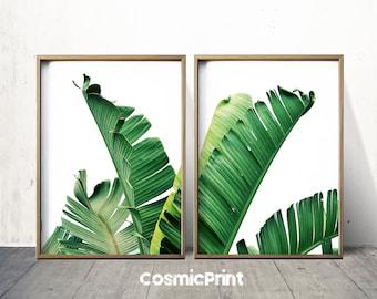 Tropical Art Tropical Leaf Print  Tropical Print Botanical Print Plant Print  Printable Art Print Download