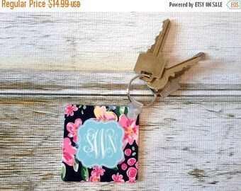 SALE Custom Mary Beth Goodwin Design Key Chain - Choice of 18 Patterns, Frame, Monogram - Personalized Keychain, Key Ring