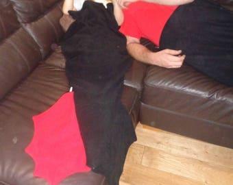 Made To Order Medium Dragon Tail Snuggle Blanket~ Lapghan~ Lap Blanket~ Snuggle Sack ~ Sofa Blanket ~ Fleece ~ Teens, Tweens & Adults