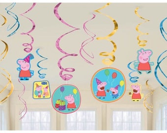 Peppa the pig party hanging decoration