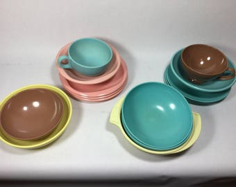 Lot of Melmac Dinnerware, Texasware, Boontonware, Imperial Ware, Stetson & Prolon, Bowls, Plates, Cups