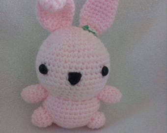 Cute and Fluffy Crochet Bunny Toy for Kids