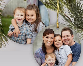 Double-Sided Photo Ornament - Custom Ornaments - Picture Tree Ornament - Christmas gift - Family Photo - Holiday Gifts - Family gift