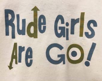 Authentic 90s Blunt/Rudegirls Ringer T-shirt
