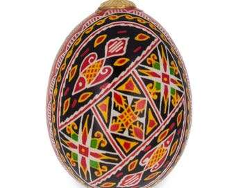 Real Blown out Eggshell Pysanka Ukrainian Easter Egg Ornament