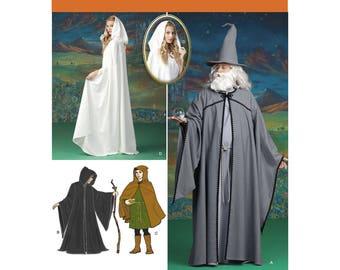 Simplicity sewing pattern 1582 medieval maiden wizard reaper Halloween costumes Renaissance festival XS-XL UNCUT